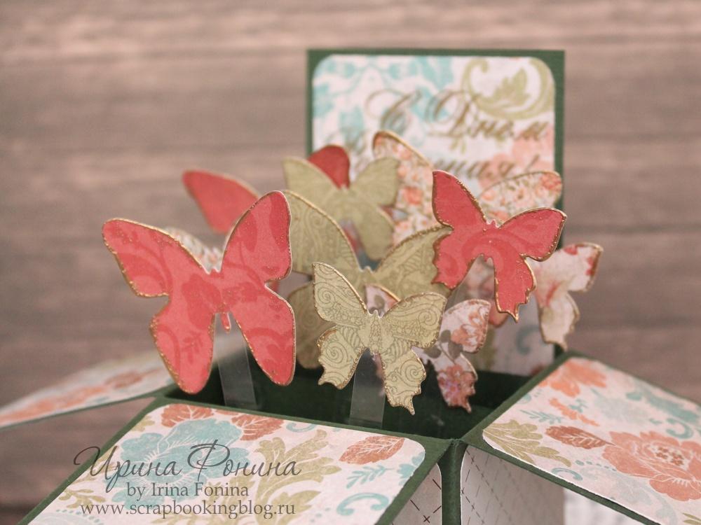 Бабочки в раскладных открытках 985